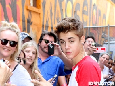 Justin Bieber Fans Late Show With David Letterman New York