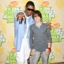 Justin Bieber Usher 2009 Kids Choice Awards