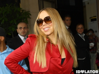 Mariah Carey photocall london