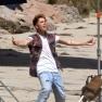 Justin Bieber Posing Beach Photo Shoot