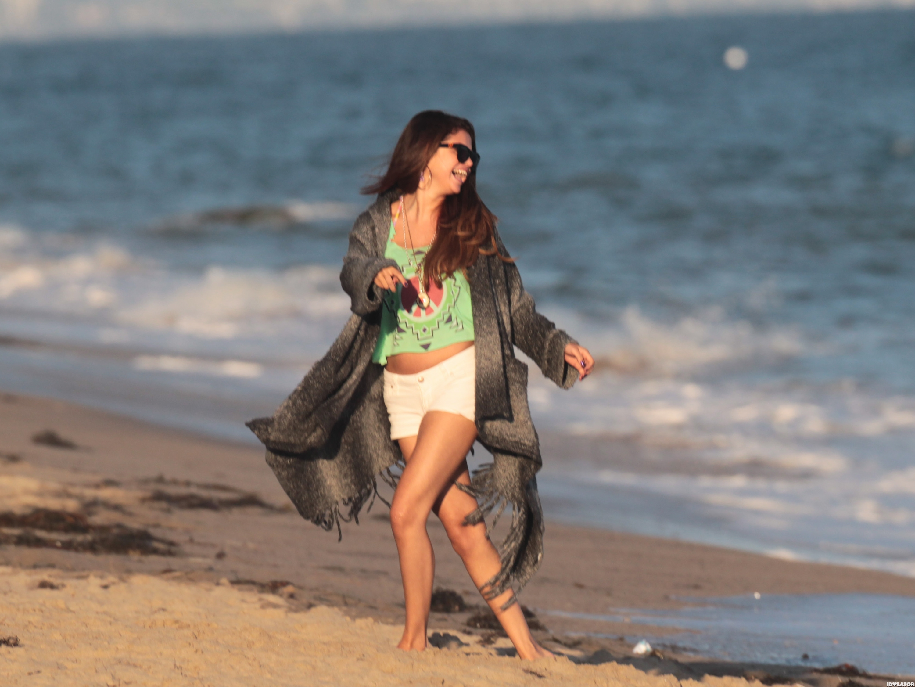 Selena Gomez Cuts Loose On The Beach