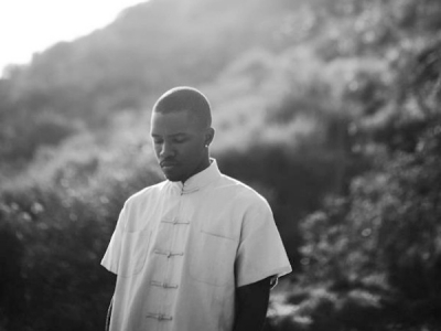 Frank Ocean black and white hillside