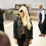 Lady Gaga Leather Jacket LAX Airport