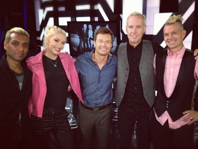 No Doubt Ryan Seacrest Gwen Stefani July 2012