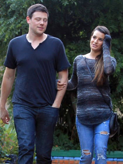 Lea Michele And Cory Montieth's Cute Lunch Date