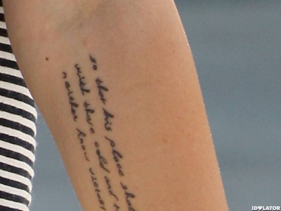 Miley's New Ink