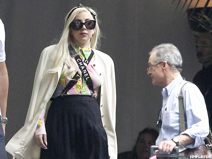 Lady Gaga Works Suspenders In L.A.