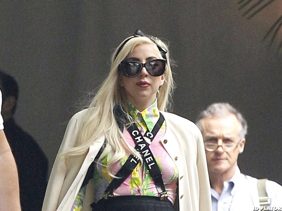 Lady Gaga Works Suspenders In L.A.