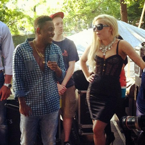 Lady Gaga Drops By Kendrick Lamar's Set