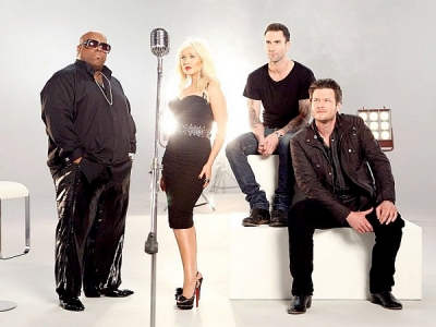 The Voice coaches Christina Aguilera Adam Levine Blake Shelton Cee Lo Green