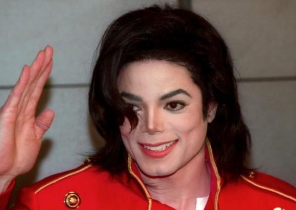 Michael Jackson red jacket waving