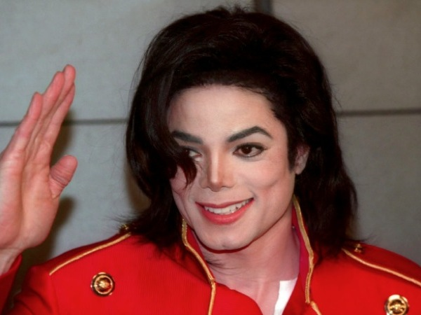 Michael Jackson red jacket waving