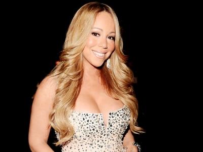 Mariah Carey be-dazzled dress