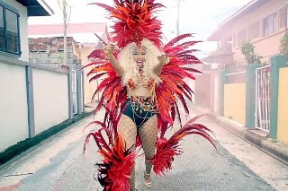 "Nicki Minaj's ""Pound The Alarm"" Video: Watch Her Feather-Filled Romp In The Sun"