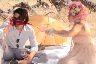 """Pink Dances In The Blood Rain In Her """"Blow Me (One Last Kiss)"""" Behind-The-Scenes"""