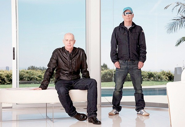 Pet Shop Boys Elysium 2012 Winner promo shot Los Angeles window
