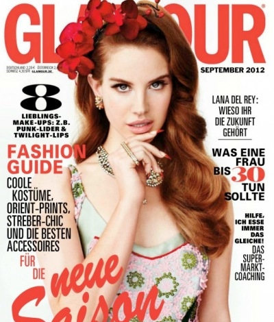 Lana Del Rey German Germany Glamour cover magazine 2012 September
