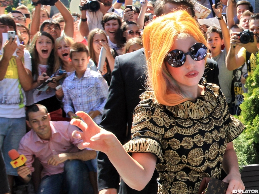 Lady Gaga Rocks Orange Locks