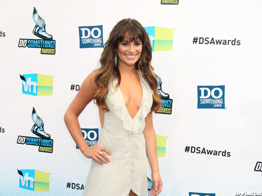 Lea Michele And Cory Monteith Arrive At The 2012 Do Something Awards