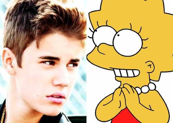 Justin Bieber LIsa Simpson The Simpsons