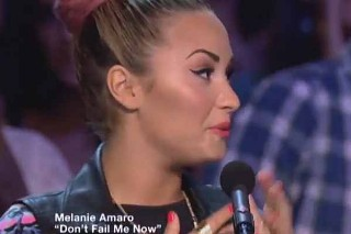 Demi Lovato Tears Up In New 'X Factor' Promo