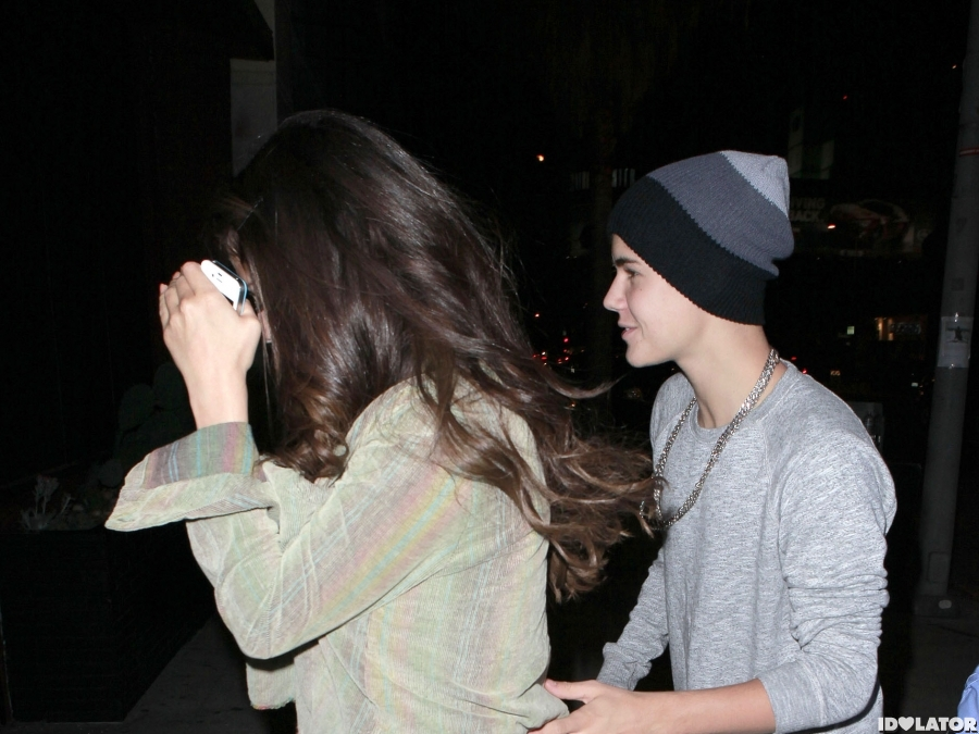 Justin And Selena's Night Out