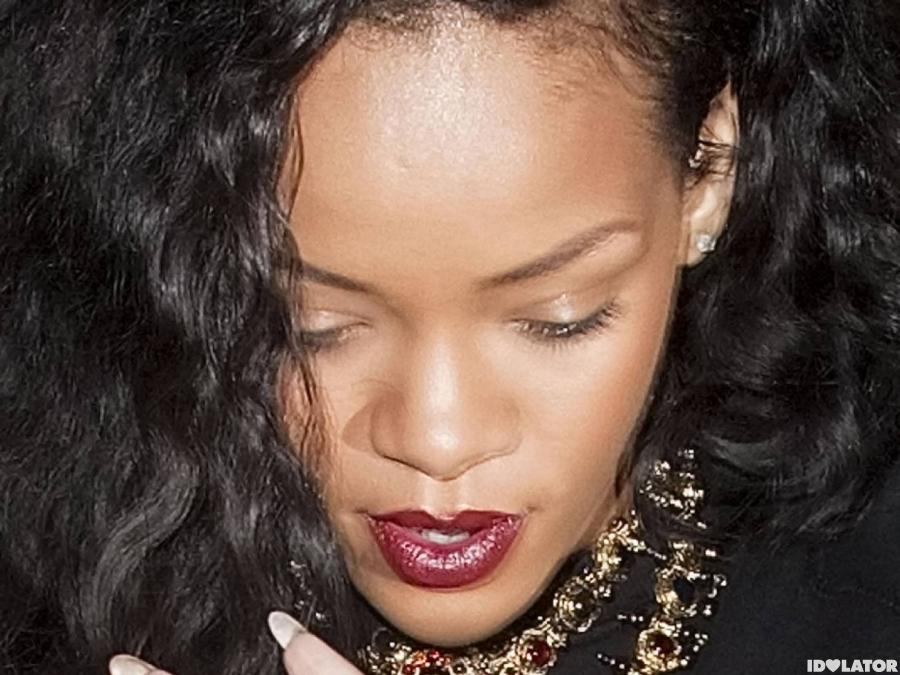 Rihanna Rides Thigh-High In London