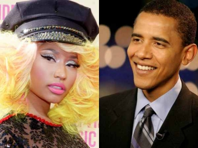 Nicki Minaj Barack Obama Mitt Romney