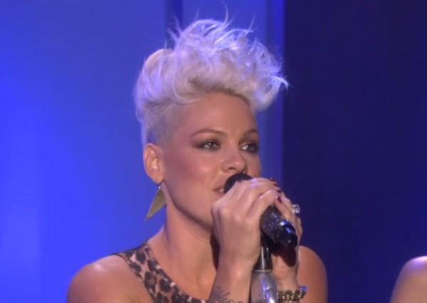 Pink Blow Me One Last Kiss Live On Ellen