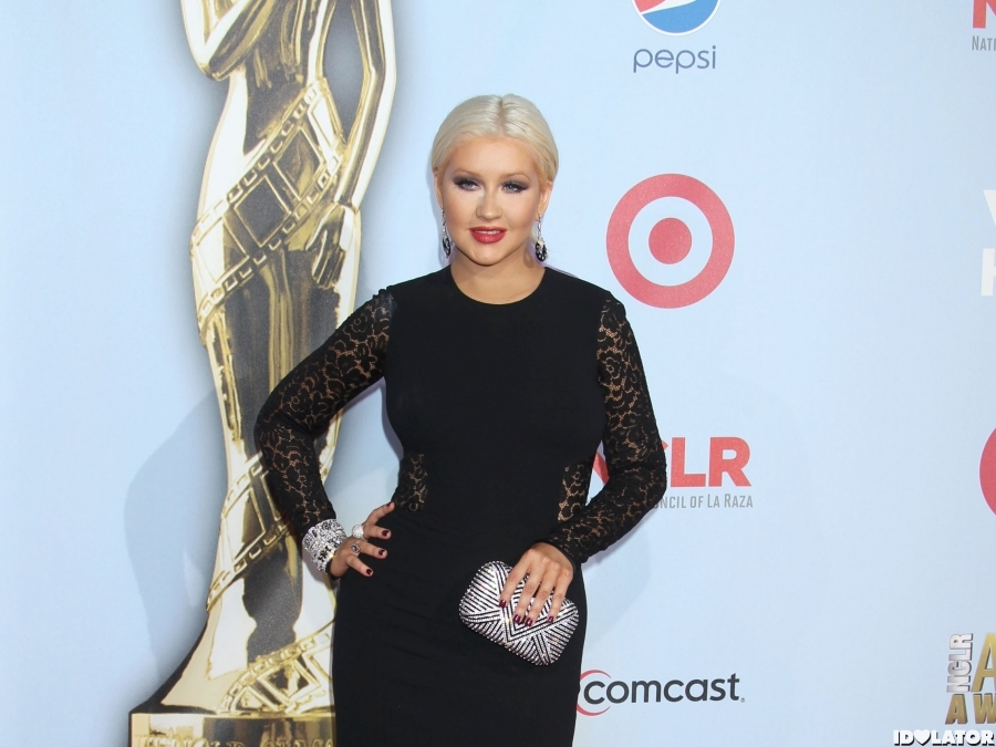 Christina Arrives At The 2012 ALMA Awards