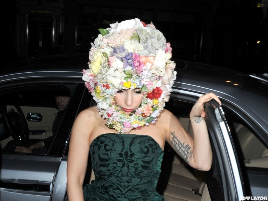 Lady Gaga's Floral Helmet