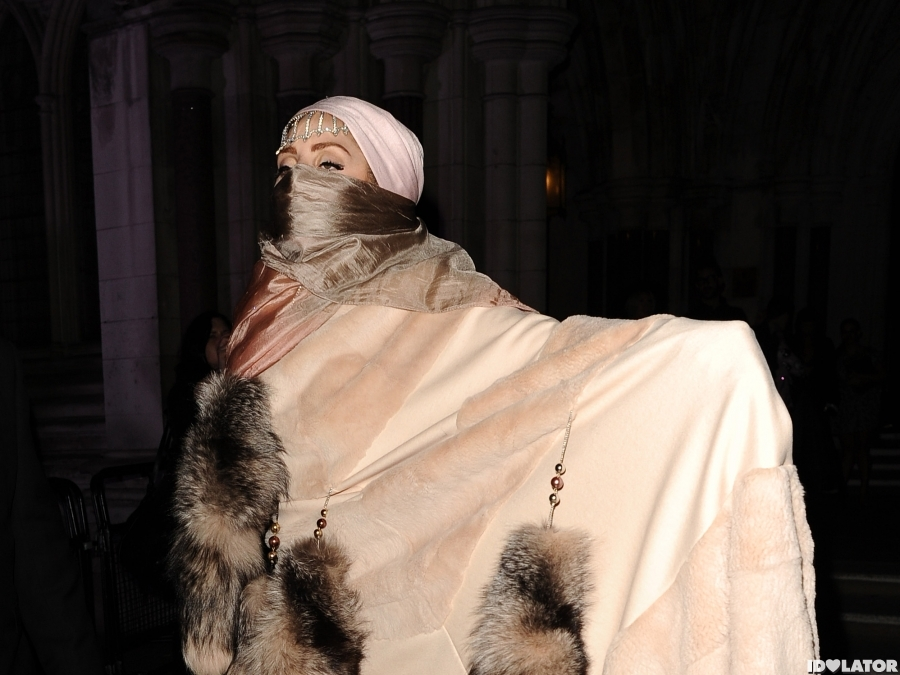 Lady Gaga Wears Fur During London Fashion Week