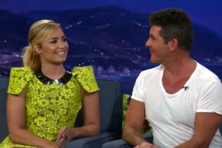 Demi Lovato Calls Simon Cowell An A**hole On 'Conan': Watch
