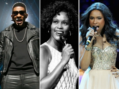 usher jennifer hudson whitney houston