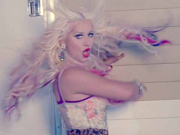 """Christina Aguilera """"Your Body"""" Video: Rainbow Weave Whipper"""