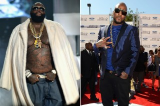 Rick Ross & Young Jeezy Brawl Footage: Watch Security Guards Wrangle Rozay Backstage