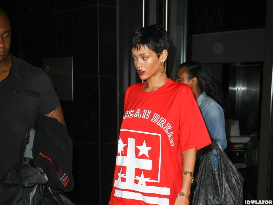 Rihanna Has A Night Out With Chris Brown