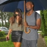 Kim Kardashian And Kanye West Spend The Day In The Rain