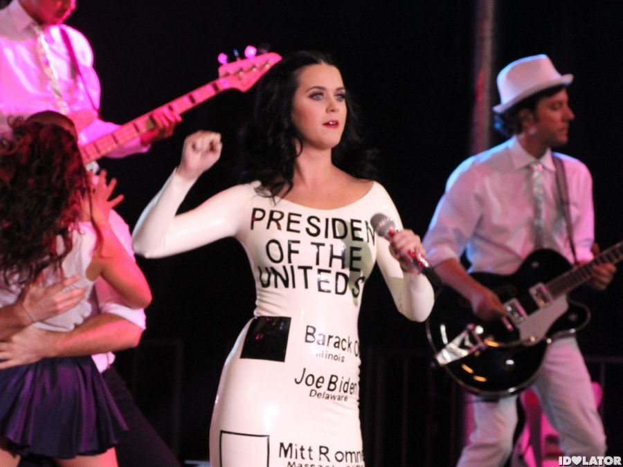 Katy Perry Performs At Obama Rally In Nevada