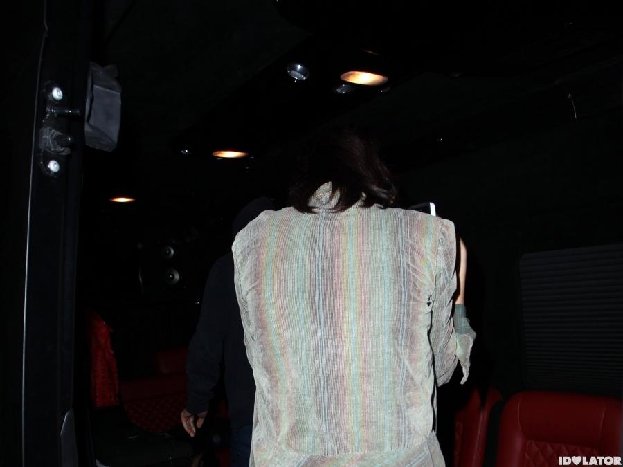 Justin Bieber and Selena Gomez was seen leaving Benihana Restaurant