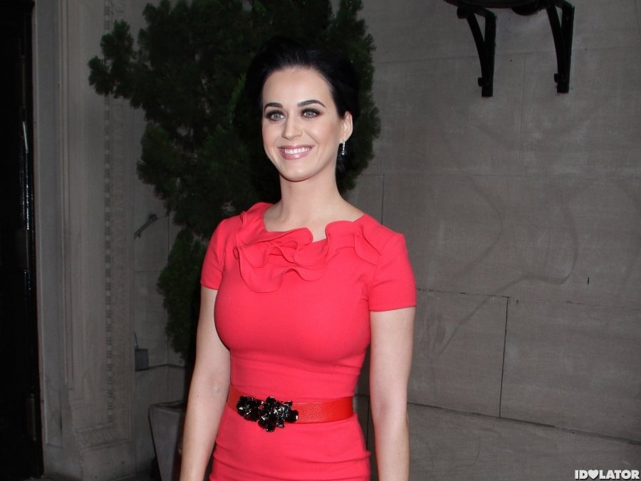 Katy Works A Pink Dress For The Women In Music Luncheon