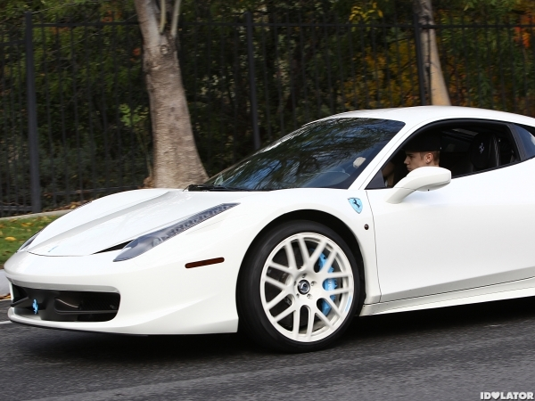 Justin Bieber Selena Gomez was seen driving around in town this afternoon