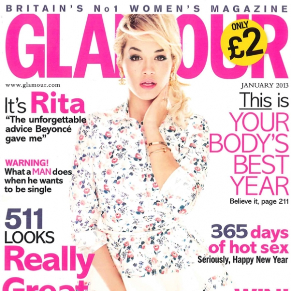Rita Is Girly For 'Glamour'