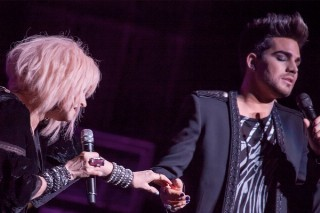 "Adam Lambert Geeks Out Performing A Haunting ""Mad World"" With Cyndi Lauper: Watch"
