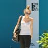 Miley Cyrus at Pilates