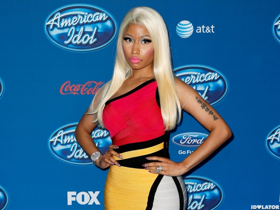 Nicki Minaj Pops At 'Idol' Premiere
