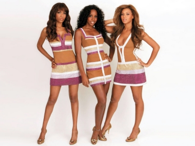 Destinys Child Beyonce Kelly Rowland Michelle Williams promo photo dresses