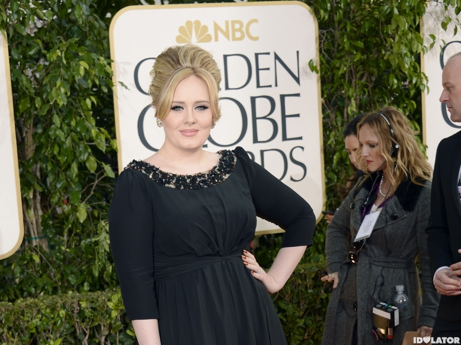 Adele Arrives At The 2013 Golden Globes