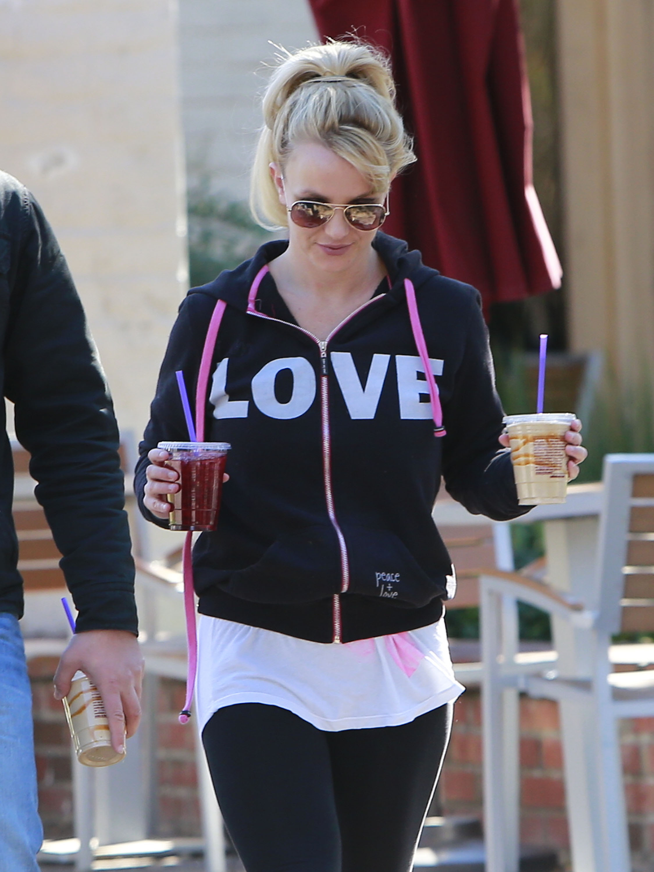 Wears Emotions On Sleeve Britney Spears Love Jacket
