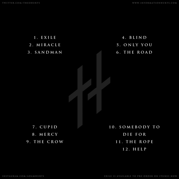 hurts exile tracklist